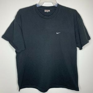 Nike Mens XXL Black and White Swoosh Shirt
